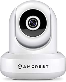 Amcrest 1080P WiFi *摄像头 2MP 室内平移/倾斜无线 IP 摄像头,IP2M-841W (白色)