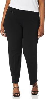 SLIM-SATION 女式加大码套穿纯色针织轻松修身九分裤