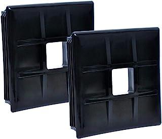 wadoy RV 保险杠插头端盖 4 英寸(约 10.2 厘米)方形保险杠盖,适用于房车、露营、旅行拖车、2 件装