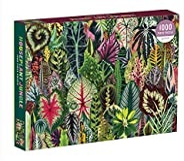 Galison 室内植物丛林成人拼图游戏,1000片–混合多肉植物和其他家用植物的植物拼图游戏–有趣的室内活动,多色