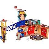 Simba 109251059 消防员山姆 大型消防站 XXL 含山姆人偶 配备灯光 声音 无线电设备 适合 3 岁以上…