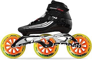 Bont 直排轮滑 | 直排速度滑冰赛车 | 半比赛滑冰靴 + CXXV 黑色边框 + 街头霸气 125mm 轮子 + ABEC5 轴承 | 素食 | 青年 - 男孩 - 女孩 - 男士 - 女士