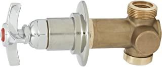 T&S Brass B-1020-1 隐藏式旁路阀,1.27 厘米分母进出口,4 臂手柄,热索引