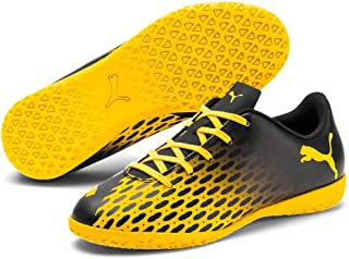 Puma 彪马 中性儿童 Spirit Iii It Jr Futsal 鞋,黑色-Ultra Yellow, 12.5 Child UK