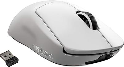 Logitech 罗技 G PRO X 超轻无线游戏鼠标 – 高速、轻质游戏鼠标 兼容 PC 和 Mac(USB 端口) – 白色