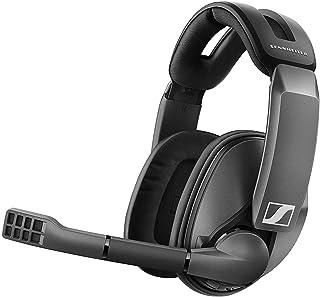 Sennheiser 森海塞尔 GSP 370 头戴式无线游戏耳机,低延迟蓝牙,降噪麦克风,翻转静音,音频预设 - PC、Mac、Windows 和 PS4 兼容 - 黑色