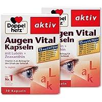 德国双心Doppelherz多维护眼 叶黄素玉米黄素胶囊30粒 保护眼睛不再干涩 (国际直邮费包含了国际邮费和进口关税)