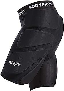 Bodyprox 保护性加垫短裤适用于滑雪、滑板和滑雪,3D 保护臀部、臀部和尾骨