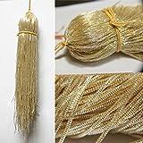 刺绣材料法国金银丝(Nakshi)金属线,用于刺绣、串珠和珠宝制作太阳吻色,1 毫米,55 码(100 克)