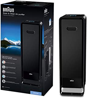 Braun 博朗 Scan & Clean Air 空气净化器(*,高达129平方米,CADR 315立方米/小时,三重过滤,空气质量传感器),BFD104BE/BFD104BE2