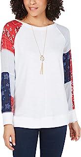 Style & Co. 小号女式拼接运动衫