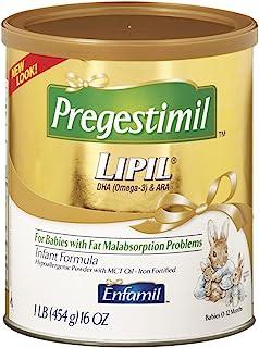 meadjohnson 美赞臣 Enfamil 铂睿 Pregestimil 低变应原婴儿无乳糖奶粉,16盎司,454克(6包)-含有Omega 3 DHA,MCT,铁