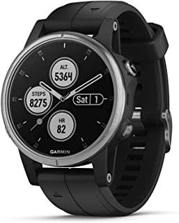 Garmin Fenix 5 Plus, Premium Multisport GPS Smartwatch, Features Color TOPO Maps, Heart Rate Monitoring, Music and Garmin ...