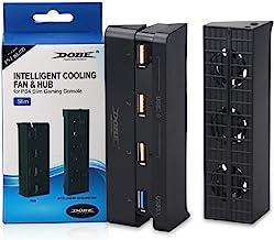 Dobe 智能冷却风扇和集线器,适用于 Sony 索尼 PlayStation 4 PS4 超薄控制台系统