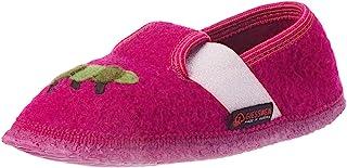 GIESSWEIN 女孩拖鞋,Treffelstein - 儿童保暖毛毡拖鞋 | 轻便的羊毛毡拖鞋 | 灵活宽度 | 防滑乳胶鞋底