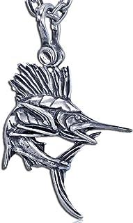 KeyLimeBay 海湾旗鱼吊坠采用纯银打造,55.88 厘米坚固的项链链子