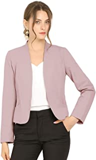 Allegra K 女式工作办公室前开襟无领短款外套