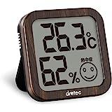 dretec 温湿度计 温度计 湿度计 深木色 电子大画面中暑/流行性感冒预警 小巧 O-271WT