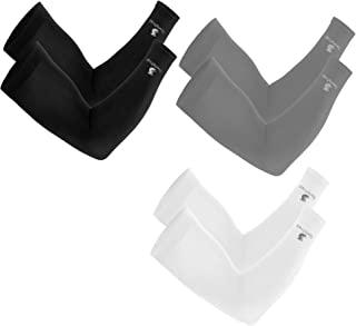 Cooling 臂套男女通用,纹身罩衣袖可覆盖手臂(1 双),冷却紫外线防护服装,UPF 50 长袖太阳袖,骑行高尔夫跑步驾驶,弹力和吸湿排汗