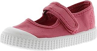 维多利亚男女皆宜的儿童梅赛德斯 Velcro lona tintada 运动鞋