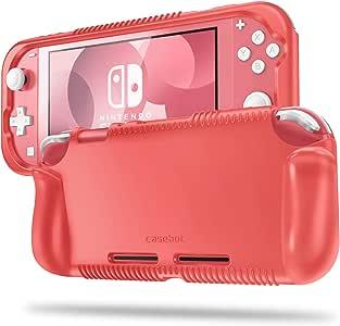 Fintie 手机壳 适用于 Nintendo Switch Lite 2019 - 软硅胶 [防震] [防滑] 保护壳 符合人体工程学的抓握设计 适用于 Switch Lite 控制台
