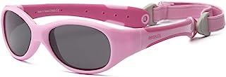 RKS 美国 防紫外线男童女童宝宝儿童太阳镜 附可拆卸镜带建议0-2岁(探险者)浅粉+深粉色
