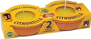 Mondo Verde CPZ04–2支装,香茅驱蚊蜡烛,9 x 4厘米,黄色