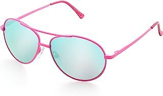 LotFancy 飞行员太阳镜 适合儿童女孩、男孩、小脸部眼镜