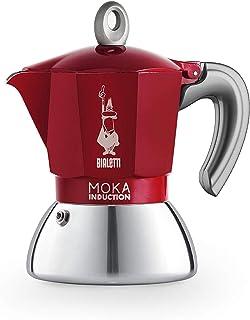 Bialetti New Moka 电磁炉咖啡壶 2 杯 90 毫升 铝 红色