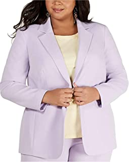 Bar III 女士加大码单扣夹克,Daphne 紫色