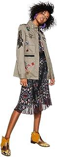 DESIGUAL 立领中长款外套(带刺绣、贴花、连帽) CHAQ_CLANSEI 女士 * 38