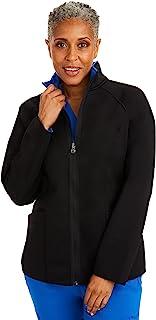Healing Hands Knits 5300 女式 Brooklyn 夹克 – 双面拉链磨砂膏, 黑色, 3X-Large Plus