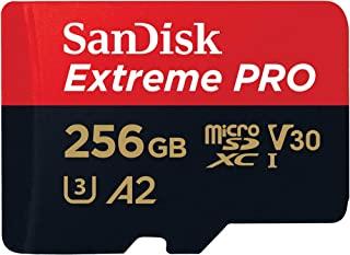 SanDisk 闪迪 Extreme Pro 256 GB microSDXC 内存卡 + SD 适配器 带 A2 应用程序性能 + Rescue Pro Deluxe 170 MB/s Class 10,UHS-I,U3,V30,红色/金色 ...