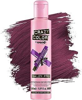 Crazy Color *剂 - 纯素和无残忍的半永久*剂 - 用于预亮或金发的临时* - 无需过氧化物或显影剂(URGANDY)