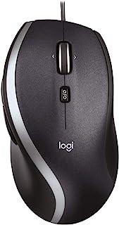 Logitech 罗技 M500 带线PC鼠标,USB连接,1000 DPI激光传感器,7个按钮,PC/Mac,黑色,英国版