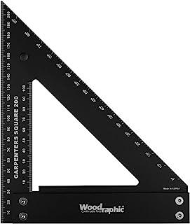 Woodraphic 专业易读木工方形,木工工具 200 MM 8809604890305