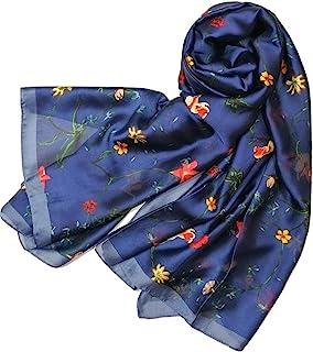 Shanlin 丝绸长缎围巾 女式