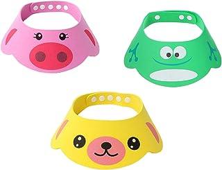 SUNTRADE 可调节遮阳帽卡通洗发露沐浴保护帽,适用于幼儿、婴儿、儿童、儿童、儿童、三件套