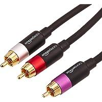 AmazonBasics 亚马逊倍思 PBH-20213 - RCA 音频线,1 x RCA 插头和 2 x RCA 插…