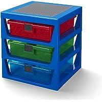 LEGO 40950002 3-Drawer Storage Rack-蓝色, 红色 蓝色 40950002
