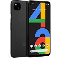 Google Pixel 4a Android 移动电话 黑色 128GB 24小时电池 夜视 无锁机