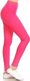 Leggings Depot 瑜伽腰部 REG/Plus 女式蝴蝶软健身裤