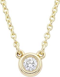 [蒂芙尼] TIFFANY 钻石 0.05ct 18YG 黄金 钻石 按码 吊坠·项链 10769213
