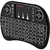 GTMEDIA i8+ 2.4G 迷你无线键盘,带触摸板背光,远程 USB 可充电背光多点触控板,92 键 QWERTY…