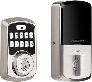 Kwikset 99420-001 Aura 可编程蓝牙智能按键门锁 智能钥匙,缎面镍