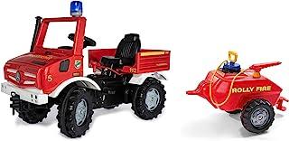 Rolly Toys Fire Unimog 消防队版本 2020 带拖车(踏板车 3 – 8 岁,*器,闪光灯,开关,刹车)038275