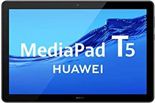 Huawei 华为 Mediapad T5 WiFi 平板电脑(25.6 厘米(10.1 英寸)全高清显示屏,32 GB 内存(可扩展),2 GB 内存,5100 mAh 电池),黑色