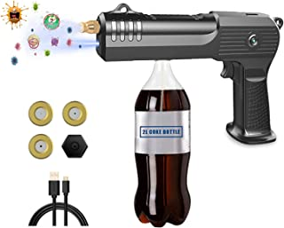PUBSOOUP 纳米喷雾器,Pubsoop 电动 Ulv 慢跑机无绳 17 盎司/500 毫升大容量纳米手持喷雾器枪,带 USB 数据线,适用于家庭、办公室或花园,黑色