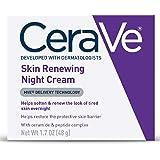 CeraVe 面部晚霜| 含透明质酸和烟酰胺的肌肤再生晚霜| 包装可能会有所不同| 1.7盎司/48克