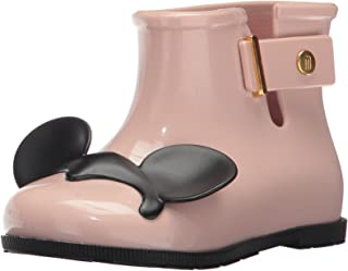 Mini Melissa 迷你玛丽莎 女童迷你糖迪士尼双胞胎雨靴,蓝色/黑色,9 常规美国幼儿